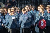 March Past, Remembrance Sunday at the Cenotaph 2016: M35 Girls Brigade England & Wales. Cenotaph, Whitehall, London SW1, London, Greater London, United Kingdom, on 13 November 2016 at 13:18, image #2869