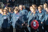 March Past, Remembrance Sunday at the Cenotaph 2016: M35 Girls Brigade England & Wales. Cenotaph, Whitehall, London SW1, London, Greater London, United Kingdom, on 13 November 2016 at 13:18, image #2870
