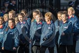 March Past, Remembrance Sunday at the Cenotaph 2016: M35 Girls Brigade England & Wales. Cenotaph, Whitehall, London SW1, London, Greater London, United Kingdom, on 13 November 2016 at 13:18, image #2873