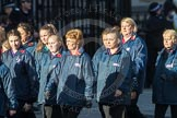 March Past, Remembrance Sunday at the Cenotaph 2016: M35 Girls Brigade England & Wales. Cenotaph, Whitehall, London SW1, London, Greater London, United Kingdom, on 13 November 2016 at 13:18, image #2874