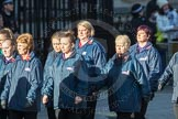March Past, Remembrance Sunday at the Cenotaph 2016: M35 Girls Brigade England & Wales. Cenotaph, Whitehall, London SW1, London, Greater London, United Kingdom, on 13 November 2016 at 13:18, image #2875