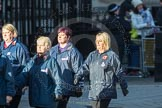 March Past, Remembrance Sunday at the Cenotaph 2016: M35 Girls Brigade England & Wales. Cenotaph, Whitehall, London SW1, London, Greater London, United Kingdom, on 13 November 2016 at 13:18, image #2877