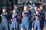 March Past, Remembrance Sunday at the Cenotaph 2016: M36 Church Lads & Church Girls Brigade. Cenotaph, Whitehall, London SW1, London, Greater London, United Kingdom, on 13 November 2016 at 13:18, image #2880