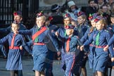 March Past, Remembrance Sunday at the Cenotaph 2016: M36 Church Lads & Church Girls Brigade. Cenotaph, Whitehall, London SW1, London, Greater London, United Kingdom, on 13 November 2016 at 13:18, image #2881