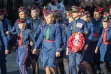 March Past, Remembrance Sunday at the Cenotaph 2016: M36 Church Lads & Church Girls Brigade. Cenotaph, Whitehall, London SW1, London, Greater London, United Kingdom, on 13 November 2016 at 13:18, image #2883