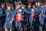 March Past, Remembrance Sunday at the Cenotaph 2016: M36 Church Lads & Church Girls Brigade. Cenotaph, Whitehall, London SW1, London, Greater London, United Kingdom, on 13 November 2016 at 13:18, image #2884