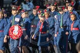 March Past, Remembrance Sunday at the Cenotaph 2016: M36 Church Lads & Church Girls Brigade. Cenotaph, Whitehall, London SW1, London, Greater London, United Kingdom, on 13 November 2016 at 13:19, image #2885