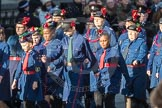 March Past, Remembrance Sunday at the Cenotaph 2016: M36 Church Lads & Church Girls Brigade. Cenotaph, Whitehall, London SW1, London, Greater London, United Kingdom, on 13 November 2016 at 13:19, image #2887