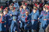 March Past, Remembrance Sunday at the Cenotaph 2016: M36 Church Lads & Church Girls Brigade. Cenotaph, Whitehall, London SW1, London, Greater London, United Kingdom, on 13 November 2016 at 13:19, image #2889