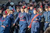 March Past, Remembrance Sunday at the Cenotaph 2016: M36 Church Lads & Church Girls Brigade. Cenotaph, Whitehall, London SW1, London, Greater London, United Kingdom, on 13 November 2016 at 13:19, image #2895
