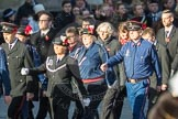 March Past, Remembrance Sunday at the Cenotaph 2016: M37 YMCA. Cenotaph, Whitehall, London SW1, London, Greater London, United Kingdom, on 13 November 2016 at 13:19, image #2903