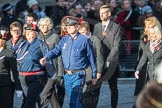 March Past, Remembrance Sunday at the Cenotaph 2016: M37 YMCA. Cenotaph, Whitehall, London SW1, London, Greater London, United Kingdom, on 13 November 2016 at 13:19, image #2905