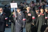 March Past, Remembrance Sunday at the Cenotaph 2016: M42 SPPW - Friends of Polish Veterans Association. Cenotaph, Whitehall, London SW1, London, Greater London, United Kingdom, on 13 November 2016 at 13:19, image #2965