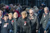 March Past, Remembrance Sunday at the Cenotaph 2016: M49 The British Evacuees Association. Cenotaph, Whitehall, London SW1, London, Greater London, United Kingdom, on 13 November 2016 at 13:20, image #3023