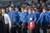 March Past, Remembrance Sunday at the Cenotaph 2016: M50 The Boys' Brigade. Cenotaph, Whitehall, London SW1, London, Greater London, United Kingdom, on 13 November 2016 at 13:20, image #3042