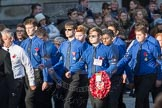 March Past, Remembrance Sunday at the Cenotaph 2016: M50 The Boys' Brigade. Cenotaph, Whitehall, London SW1, London, Greater London, United Kingdom, on 13 November 2016 at 13:20, image #3043