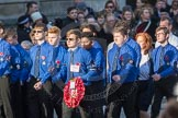 March Past, Remembrance Sunday at the Cenotaph 2016: M50 The Boys' Brigade. Cenotaph, Whitehall, London SW1, London, Greater London, United Kingdom, on 13 November 2016 at 13:20, image #3045