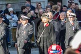 March Past, Remembrance Sunday at the Cenotaph 2016: M52 Munitions Workers Association. Cenotaph, Whitehall, London SW1, London, Greater London, United Kingdom, on 13 November 2016 at 13:20, image #3061