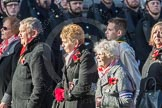 March Past, Remembrance Sunday at the Cenotaph 2016: M52 Munitions Workers Association. Cenotaph, Whitehall, London SW1, London, Greater London, United Kingdom, on 13 November 2016 at 13:20, image #3069
