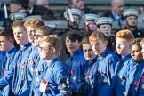 March Past, Remembrance Sunday at the Cenotaph 2016: M50 The Boys' Brigade. Cenotaph, Whitehall, London SW1, London, Greater London, United Kingdom, on 13 November 2016 at 13:20, image #3076