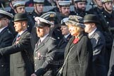 March Past, Remembrance Sunday at the Cenotaph 2016: M52 Munitions Workers Association. Cenotaph, Whitehall, London SW1, London, Greater London, United Kingdom, on 13 November 2016 at 13:21, image #3081