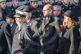 March Past, Remembrance Sunday at the Cenotaph 2016: M52 Munitions Workers Association. Cenotaph, Whitehall, London SW1, London, Greater London, United Kingdom, on 13 November 2016 at 13:21, image #3086