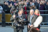March Past, Remembrance Sunday at the Cenotaph 2016: One of the BBC teams after the March past. Cenotaph, Whitehall, London SW1, London, Greater London, United Kingdom, on 13 November 2016 at 13:21, image #3090