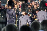 The command of an army major for the start of the Royal British Legion March Past on Remembrance Sunday at the Cenotaph, Whitehall, Westminster, London, 11 November 2018, 11:40.