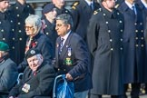 Royal Naval Association  (Group E1, 94 members) during the Royal British Legion March Past on Remembrance Sunday at the Cenotaph, Whitehall, Westminster, London, 11 November 2018, 11:41.