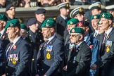 The Royal Marines Association  (Group E2, 59 members) during the Royal British Legion March Past on Remembrance Sunday at the Cenotaph, Whitehall, Westminster, London, 11 November 2018, 11:41.