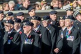 Aircrewmans Association  (Group E5, 44 members) during the Royal British Legion March Past on Remembrance Sunday at the Cenotaph, Whitehall, Westminster, London, 11 November 2018, 11:42.