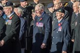 Fleet Air Arm Armourers Association  (Group E6, 27 members) during the Royal British Legion March Past on Remembrance Sunday at the Cenotaph, Whitehall, Westminster, London, 11 November 2018, 11:42.