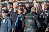 Fleet Air Arm Buccaneer Association  (Group E9, 16 members) during the Royal British Legion March Past on Remembrance Sunday at the Cenotaph, Whitehall, Westminster, London, 11 November 2018, 11:42.