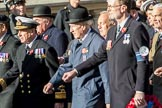 Fleet Air Arm Officers' Association  (Group E11, 22 members) during the Royal British Legion March Past on Remembrance Sunday at the Cenotaph, Whitehall, Westminster, London, 11 November 2018, 11:43.