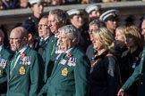 Fleet Air Arm Junglies Association  (Group E12, 22 members) during the Royal British Legion March Past on Remembrance Sunday at the Cenotaph, Whitehall, Westminster, London, 11 November 2018, 11:43.