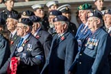 Royal Navy Photographers Association  (Part of the Fly Navy Federation conti (Group E13, 23 members) during the Royal British Legion March Past on Remembrance Sunday at the Cenotaph, Whitehall, Westminster, London, 11 November 2018, 11:43.