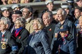 Flower Class Corvette Association  (Group E16, 18 members) during the Royal British Legion March Past on Remembrance Sunday at the Cenotaph, Whitehall, Westminster, London, 11 November 2018, 11:43.