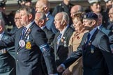 HMS Argonaut Association  (Group E19, 29 members) during the Royal British Legion March Past on Remembrance Sunday at the Cenotaph, Whitehall, Westminster, London, 11 November 2018, 11:44.
