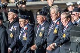 HMS Ganges Association  (Group E20, 30 members)during the Royal British Legion March Past on Remembrance Sunday at the Cenotaph, Whitehall, Westminster, London, 11 November 2018, 11:44.