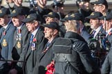 HMS Hermes Association  (Group E21, 30 members) during the Royal British Legion March Past on Remembrance Sunday at the Cenotaph, Whitehall, Westminster, London, 11 November 2018, 11:44.