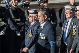 HMS St. Vincent Association  (Group E24, 14 members) during the Royal British Legion March Past on Remembrance Sunday at the Cenotaph, Whitehall, Westminster, London, 11 November 2018, 11:44.