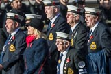 HMS Tiger Association (Group E25, 11 members) during the Royal British Legion March Past on Remembrance Sunday at the Cenotaph, Whitehall, Westminster, London, 11 November 2018, 11:44.