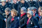 Queen Alexandra's Royal Naval Nursing Service Association  (Group E32, 32 members) during the Royal British Legion March Past on Remembrance Sunday at the Cenotaph, Whitehall, Westminster, London, 11 November 2018, 11:45.