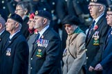 Royal Naval Communications Association  (RNCA) (Group E34, 21 members) during the Royal British Legion March Past on Remembrance Sunday at the Cenotaph, Whitehall, Westminster, London, 11 November 2018, 11:45.