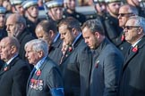 The Four Ships Yangtze Incident Association   (Group E37, 20 members) during the Royal British Legion March Past on Remembrance Sunday at the Cenotaph, Whitehall, Westminster, London, 11 November 2018, 11:46.