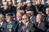 The Fisgard Association  (Group E42, 35 members) during the Royal British Legion March Past on Remembrance Sunday at the Cenotaph, Whitehall, Westminster, London, 11 November 2018, 11:46.