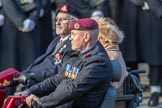 Blesma, The Limbless Veterans (Group AA1, 55 members) during the Royal British Legion March Past on Remembrance Sunday at the Cenotaph, Whitehall, Westminster, London, 11 November 2018, 11:47.