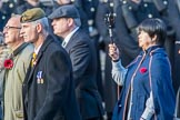 Blesma, The Limbless Veterans (Group AA1, 55 members) during the Royal British Legion March Past on Remembrance Sunday at the Cenotaph, Whitehall, Westminster, London, 11 November 2018, 11:48.