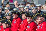 The Royal Hospital Chelsea (Group AA3, 30 members) during the Royal British Legion March Past on Remembrance Sunday at the Cenotaph, Whitehall, Westminster, London, 11 November 2018, 11:48.