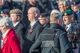 The Not Forgotten Association  (Group F5, 47 members) during the Royal British Legion March Past on Remembrance Sunday at the Cenotaph, Whitehall, Westminster, London, 11 November 2018, 11:50.